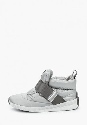 Ботинки Sorel OUT N ABOUT™ PUFFY. Цвет: серебряный