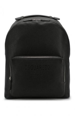 Кожаный рюкзак Dsquared2. Цвет: черный