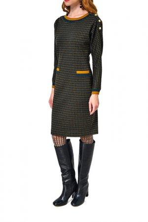 Платье Caterina Leman. Цвет: зеленый, коричневый (06/04)