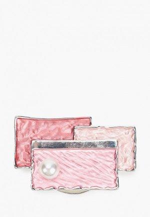 Брошь Fiore Luna. Цвет: розовый