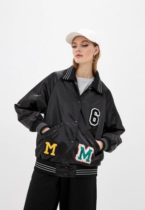 Куртка утепленная MM6 Maison Margiela. Цвет: черный
