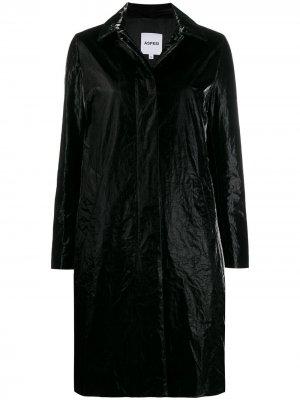 Пальто прямого кроя Aspesi. Цвет: черный
