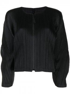 January plissé cardigan Pleats Please Issey Miyake. Цвет: черный