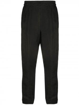 Укороченные брюки кроя слим Ann Demeulemeester. Цвет: черный