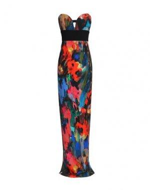 Длинное платье BLACK HALO. Цвет: оранжевый