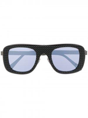Декорированные солнцезащитные очки Philipp Plein. Цвет: черный