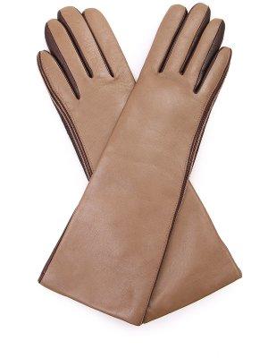 Перчатки кожаные удлиненные EGGS. Цвет: разноцветный