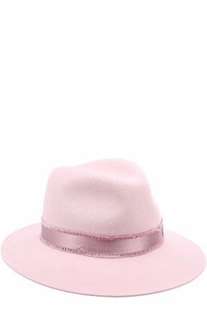 Фетровая шляпа Henrietta с лентой Maison Michel. Цвет: розовый