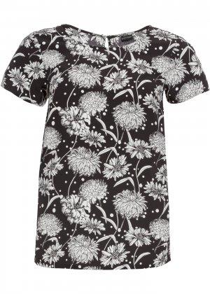 Блузка с принтом bonprix. Цвет: черный