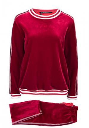 Спортивный костюм ALTER EGO. Цвет: бордовый