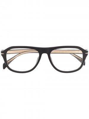 Очки в круглой оправе Eyewear by David Beckham. Цвет: черный