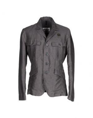 Пиджак BLAUER. Цвет: свинцово-серый