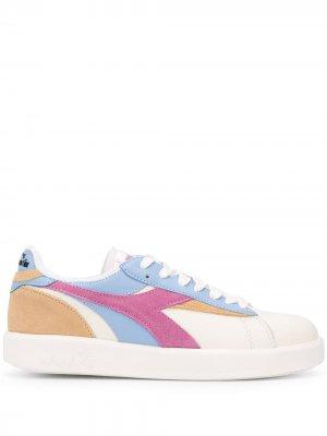 Кроссовки в стиле колор-блок Diadora. Цвет: нейтральные цвета