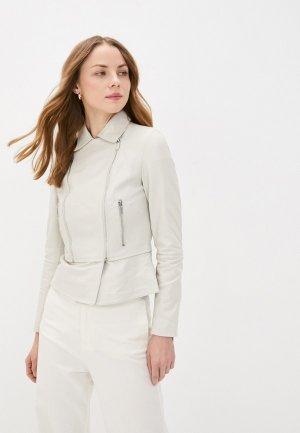 Куртка кожаная Снежная Королева IPAC004LS20/1. Цвет: белый