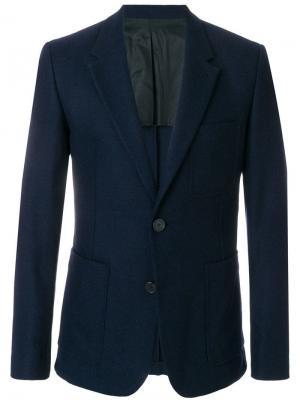 Пиджак на две пуговицы AMI. Цвет: синий