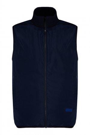 Темно-синий жилет Bikkembergs. Цвет: синий