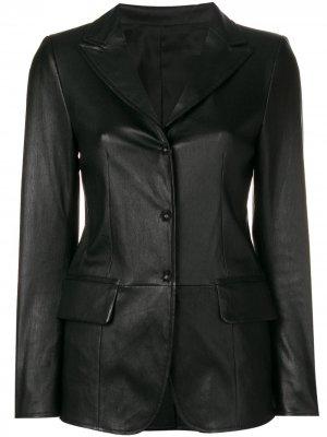 Lord press stud fitted jacket Sylvie Schimmel. Цвет: черный