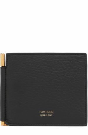 Кожаный зажим для денег с отделениями кредитных карт Tom Ford. Цвет: черный
