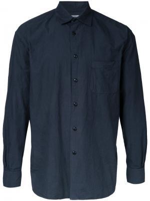 Рубашка свободного кроя Gold / Toyo Enterprise. Цвет: синий