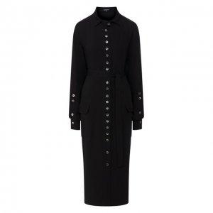Платье из вискозы Ann Demeulemeester. Цвет: чёрный