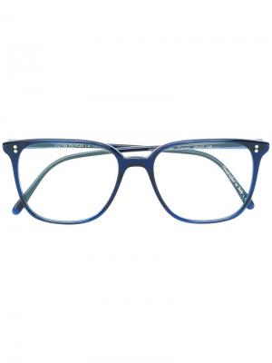 Очки в квадратной оправе Oliver Peoples. Цвет: синий