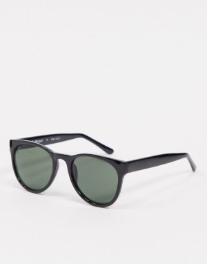 Черные солнцезащитные очки в крупной оправе -Черный цвет AJ Morgan