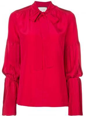 Блузка с плиссированными деталями Alexis. Цвет: красный