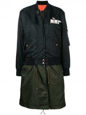 Куртка-бомбер с вышивкой Mr & Mrs Italy. Цвет: черный