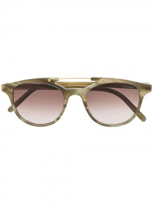 Солнцезащитные очки в массивной оправе Eleventy. Цвет: нейтральные цвета