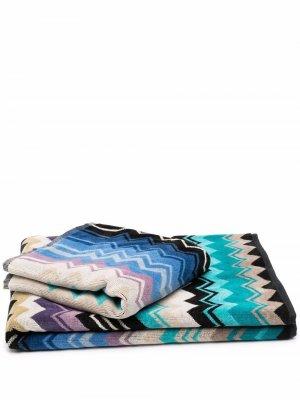 Набор полотенец в полоску Missoni Home. Цвет: синий