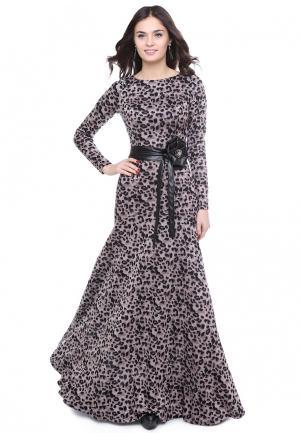 Платье Olivegrey ELFA. Цвет: бежевый