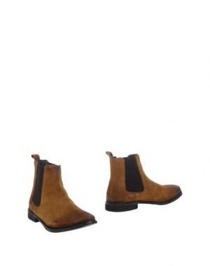 Полусапоги и высокие ботинки FRANK WRIGHT. Цвет: верблюжий