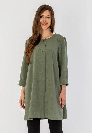 Пальто S&A Style. Цвет: зеленый