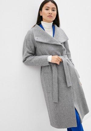 Пальто Boss Cedani. Цвет: серый