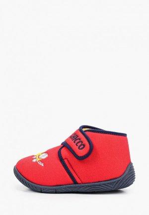 Тапочки Chicco. Цвет: красный