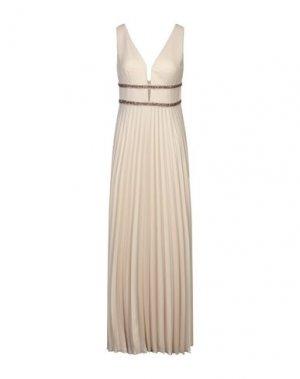 Длинное платье MIKAEL. Цвет: песочный