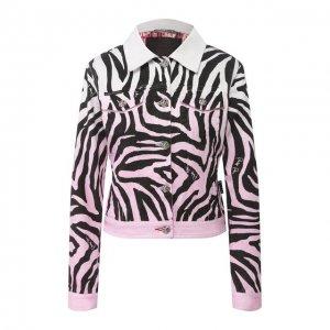Джинсовая куртка Philipp Plein. Цвет: белый