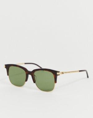 Квадратные солнцезащитные очки в черепаховой полуоправе -Мульти Marc Jacobs