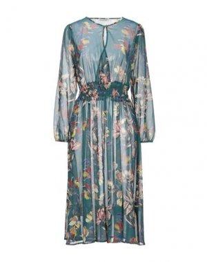 Платье длиной 3/4 KARTIKA. Цвет: темно-зеленый