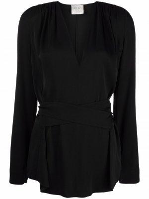 V-neck wrap blouse Forte. Цвет: черный