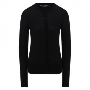 Кашемировый кардиган Dolce & Gabbana. Цвет: чёрный