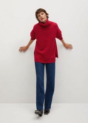 Объемный свитер с воротником отворотом - Picasso Mango. Цвет: фуксия