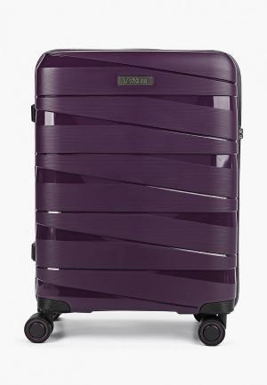 Чемодан Fabretti Cabin Size. Цвет: фиолетовый