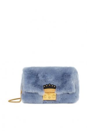 Голубая сумка Metropolis Nuvola FURLA. Цвет: серый