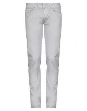 Повседневные брюки CYCLE. Цвет: светло-серый