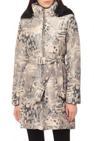 Куртка CJC. Цвет: бежевый, леопардовый