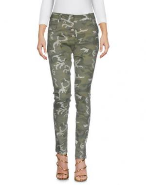 Джинсовые брюки TANTRA. Цвет: зеленый-милитари