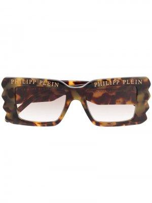 Солнцезащитные очки с логотипом Philipp Plein. Цвет: нейтральные цвета