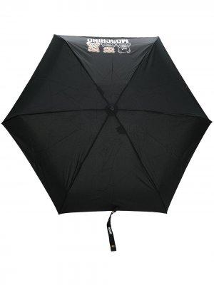 Зонт с принтом Teddy Bear Moschino. Цвет: черный