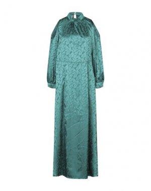 Длинное платье MARIUCCIA. Цвет: изумрудно-зеленый